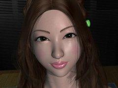 Japanese 3D cute girl sweet hentai fucking