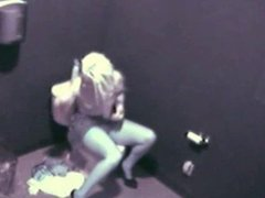 Girl masturbating in wc