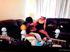 Couple having fun with Playstation4