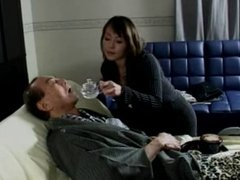 Japanese Grandaughter gives not her dying Grampa a blowjob