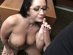 Jayden Jaymes at the office