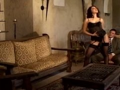 luxury escort teases and fucks him