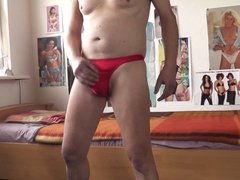 male power bong thong red