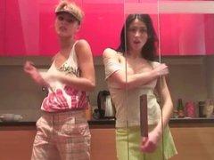 sexy sasha & girlfriend kinky striptease dance