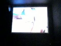 wanking with cum in a gay cinema