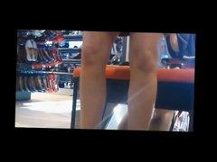 Upskirt Voyeur in Shoe Store