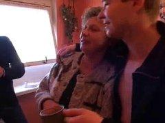 Bro's visit an older lady