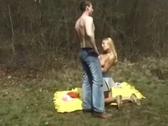 Hot chick wanted to fuck outdoors