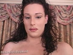 Big Dick Tranny TS Tiffany Taylor Shemale Stroking With Cum