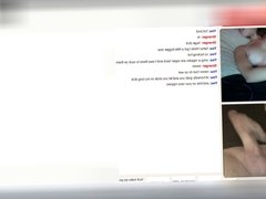 Hot babe on Omegle rubbing her wet pussy under her panties