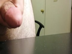 Cumshot on my desk again