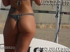Slim waist big butt PAWG Brazilian in a thong bikini!