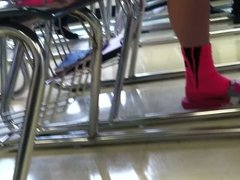 pink shorts teen