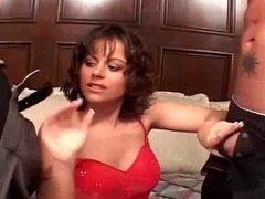 boobed brunette milf unbeliveable dp and dvp