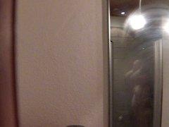 Danish Gitte voyeured in her own shower
