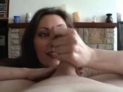 Milf jerk that cock
