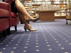 Public Lady in Stockings