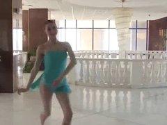 Naked Beauty Ballerina in Public