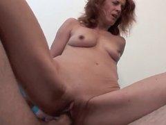 skinny mature redhead banged