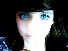cum tribute - cute blue eyed teen #1