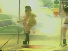 Two hairy Taiwanese - Pole Dance