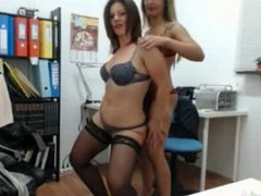 Milf in the office dancing