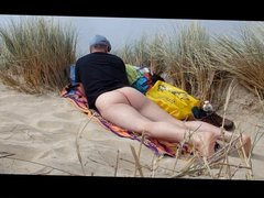 male nudist in the dunes