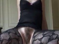Hairy mature amateur masturbation