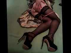 Masturbating in lovely dress..)