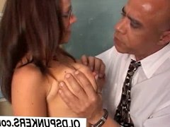 Sexy Sunny is a smoking hot nerdy MILF who loves to eat cum