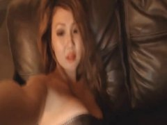 Asian horny chick put fingers in her pussy and ass