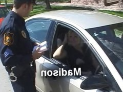 Amateur Blonde MILF Madison Fucks Her Way Out of a Ticket