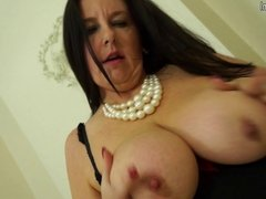 Mature mother with big tits and hungry cunt