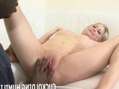 Watch me get my pussy filled up with hard black cock