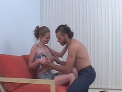 horny natural titted teen gets an ass creampie.by eliman