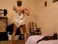 ebony teen skirt work