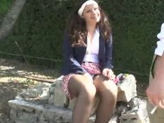 Student Babe fucked in a Schoolyard