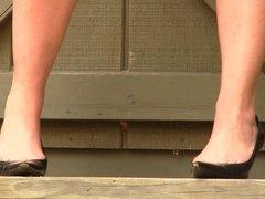 Vanessa Prada high heels modelling shoeplay heels