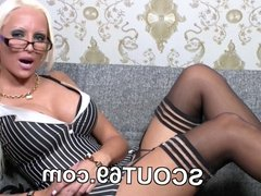 Skinny german Step-sister seduce not brother to fuck her