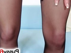 Blonde slut Mia Hilton pussy fingering zoomed in
