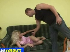 Big natural tits czech lady Darina with young fucker
