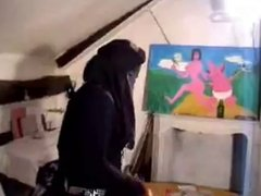 Niqab Chick Gets Drilled
