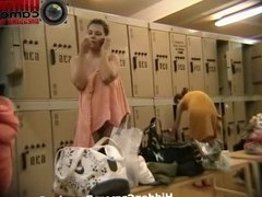 Hidden camera in a public locker room