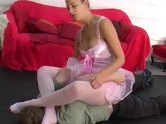 Facesitting Ballerina Beating