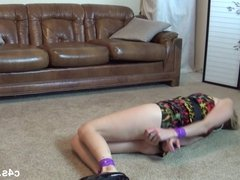Blonde Milf  Damsel in Distress Tape Bondage