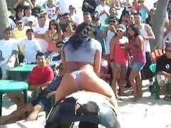 Girl in Thong Rides Mechanical Bull ( one best of series )