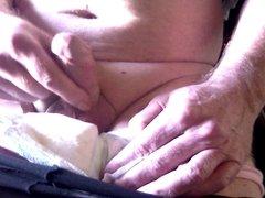in my wet diaper