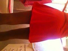 Morena in red