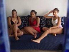 Amateur ebony lesbians threesome