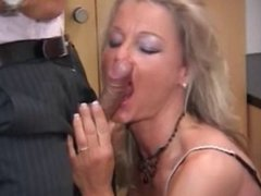 GERMAN MILF FUCKED IN THE OFFICE